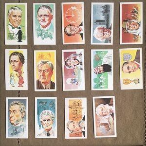 Other - Antique Famous People Cigarette Flash Cards